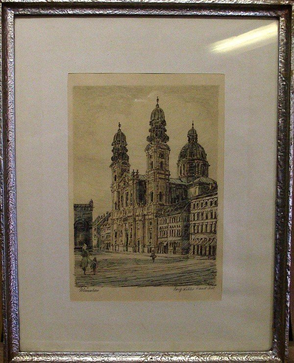 Original lithograph, after labeling the bottom right, i