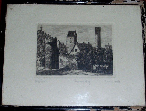"""Lithography, in altdt. Scripture """"Ravensburg"""", re. and"""