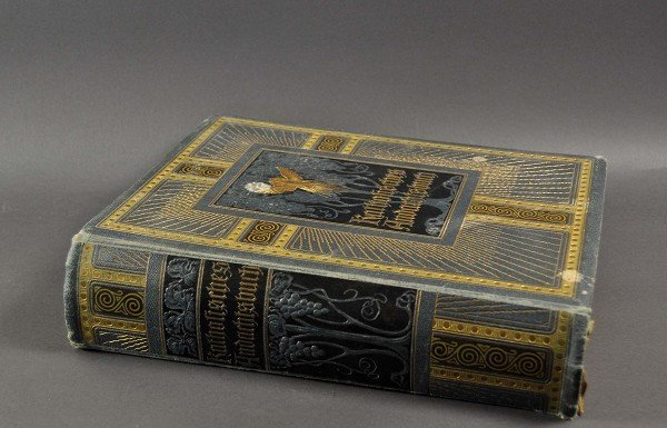 Catholic devotional book, colored embossed book covers