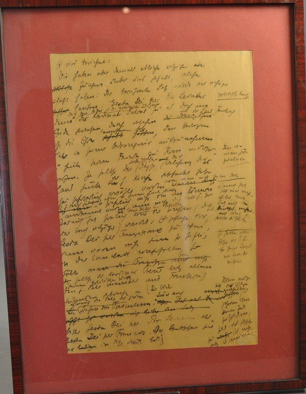 """Gertrud von Le Forte, manuscript page of """"The Pope of t"""