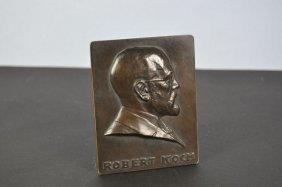 "Bronze Relief, ""Robert Koch"" Stand Soldered To Germany"