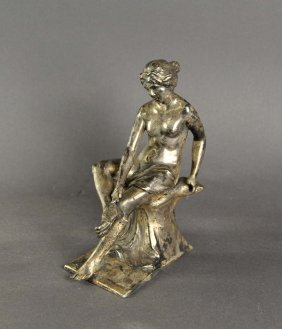 Girl Illustration Of An Antique Original In Marble, Tin