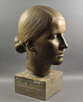 """SCHMID-EHMEN, Kurt, Women`s Bust """"Herta"""" Bronze"""