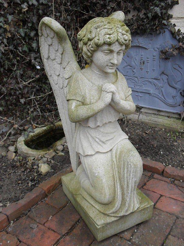 """Praying Angel"", in a kneeling representation. Natural"
