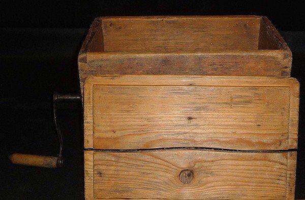 Churn, horizontal, rectangular wooden box, functional,