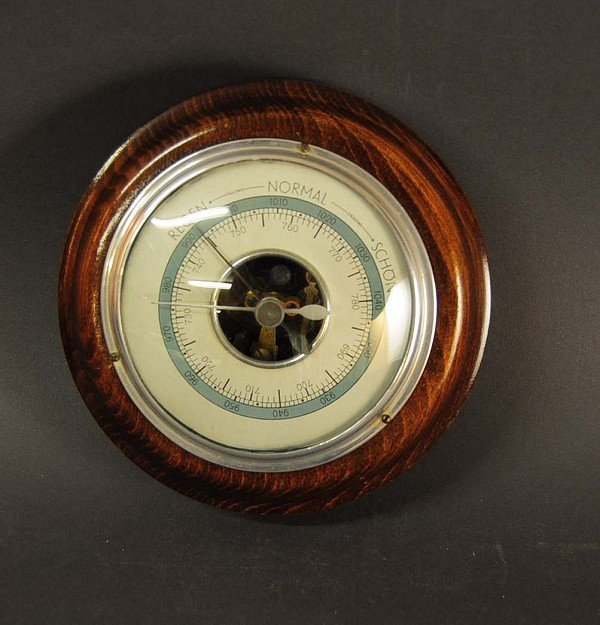 """Barometer, """"Forester"""" in 1920 in wood version, function"""