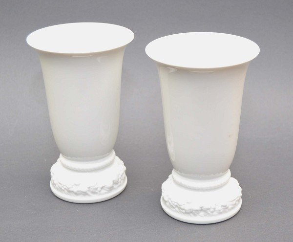 Pair of trumpet vases, Rosenthal, marked Rose Classic,