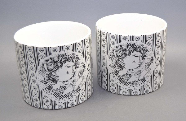 """2 Cachepots, Rosenthal studio-line, from the series """"Th"""
