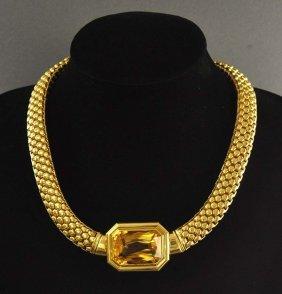 Rarity: tube interesting chain of 750 yellow gold (18K