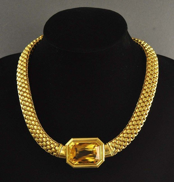 Rarity: tube interesting chain of 750 yellow gold (18K