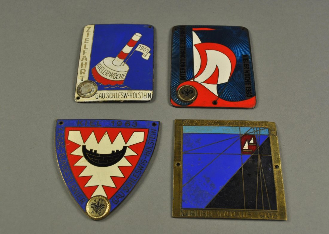 "2: Lot of 4 Badges: ""Kieler Woche"", 1960-1963"