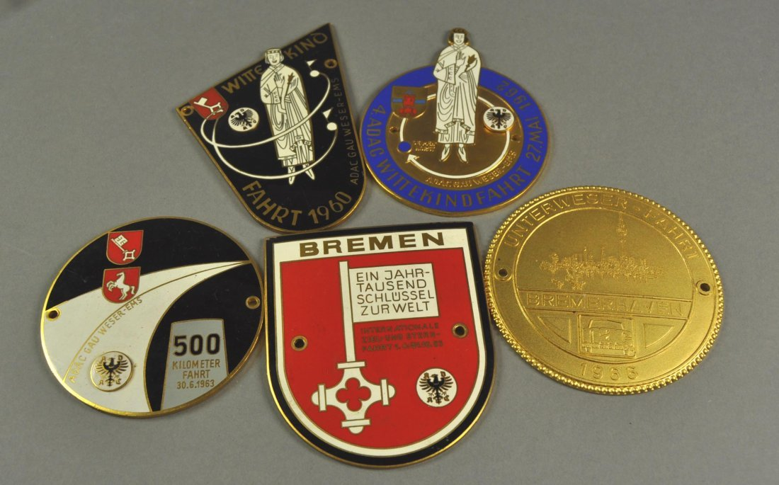 5: Lot of 5 Badges: Bremen, Weser Ems, 1960-1966