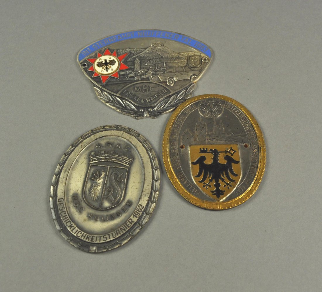 20: Lot of 3 Car Badges: Neufen, Bad Wimpfen, Sulingen