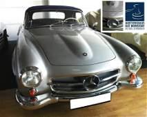 80: Mercedes Benz 190SL Cabrio, silver, 1962 *