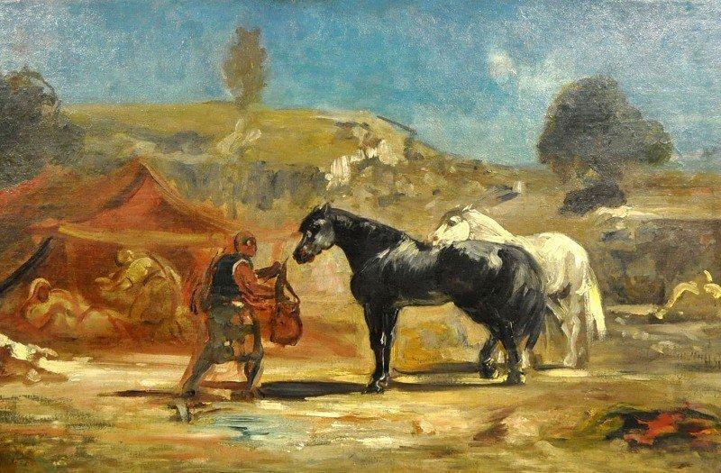 """von MARÉES, Johann, """"Arab camp with horse and pony"""""""