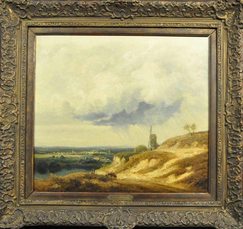 "MICHEL, Georges (Attrib.) (1763-1843) ""Stormy Landscape"