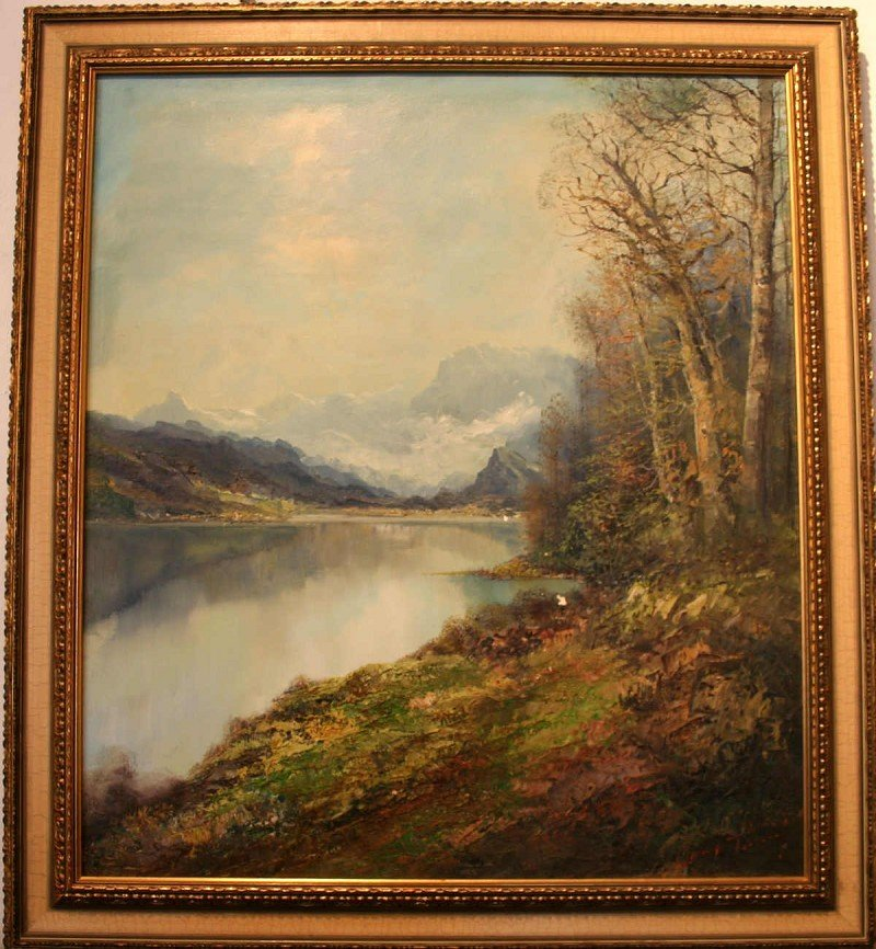 "TÜRK, Gustav (1923 Harz-1978 Klais) ""Autumn Landscape"""