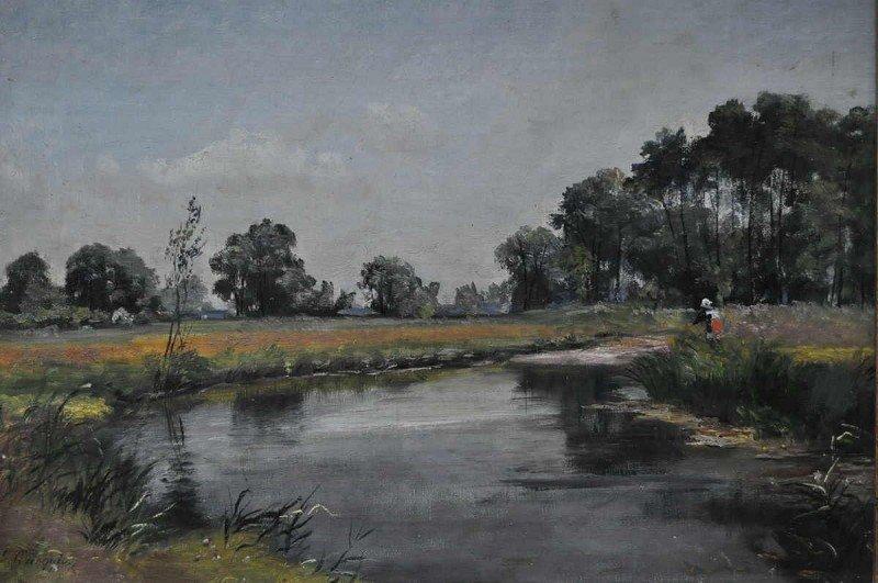 "CORREGIO, Ludwig (1846 Munich–1920 ) ""watercourse in..."