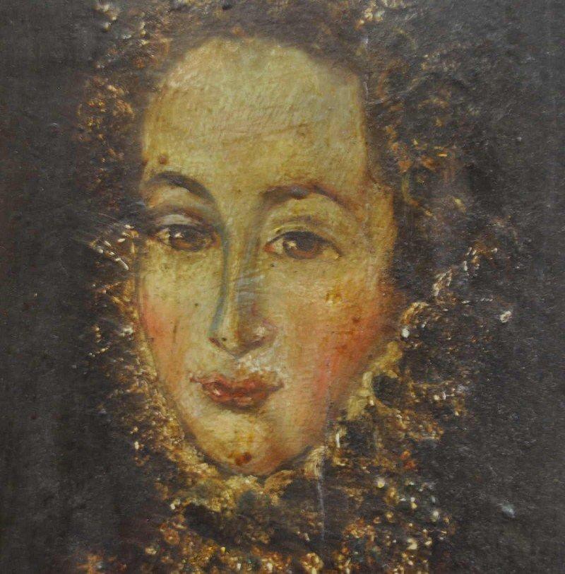 "Portraitgemälde ""Königin Victoria"", Öl auf Holz, Rahmen"