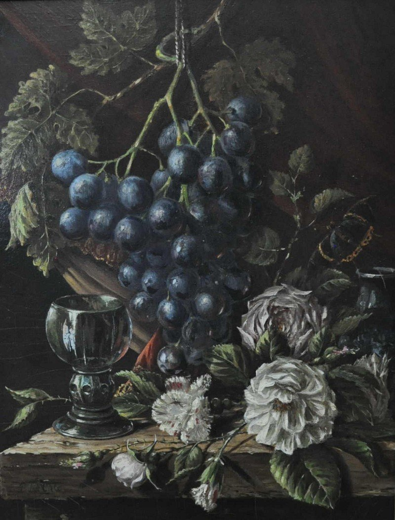TEN CATE, Pieter, Still Life with Fruit and Wine Romans