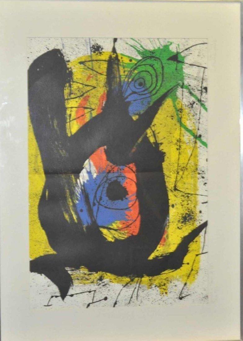 "1: MIRO, Joan (1893-1983) original color lithograph ""Un"