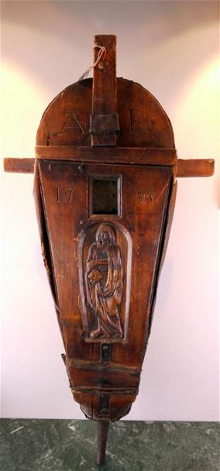 Bellows, carved softwood, southern Germany, 19 Centu