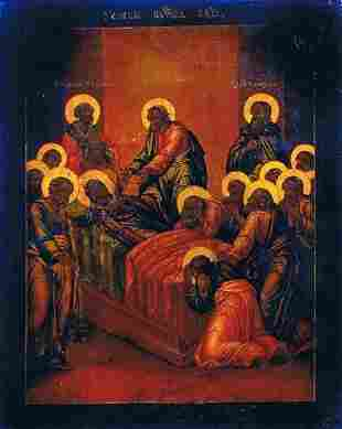 """Icon, """"Dormition of the Most Holy Mother of God"""", a"""