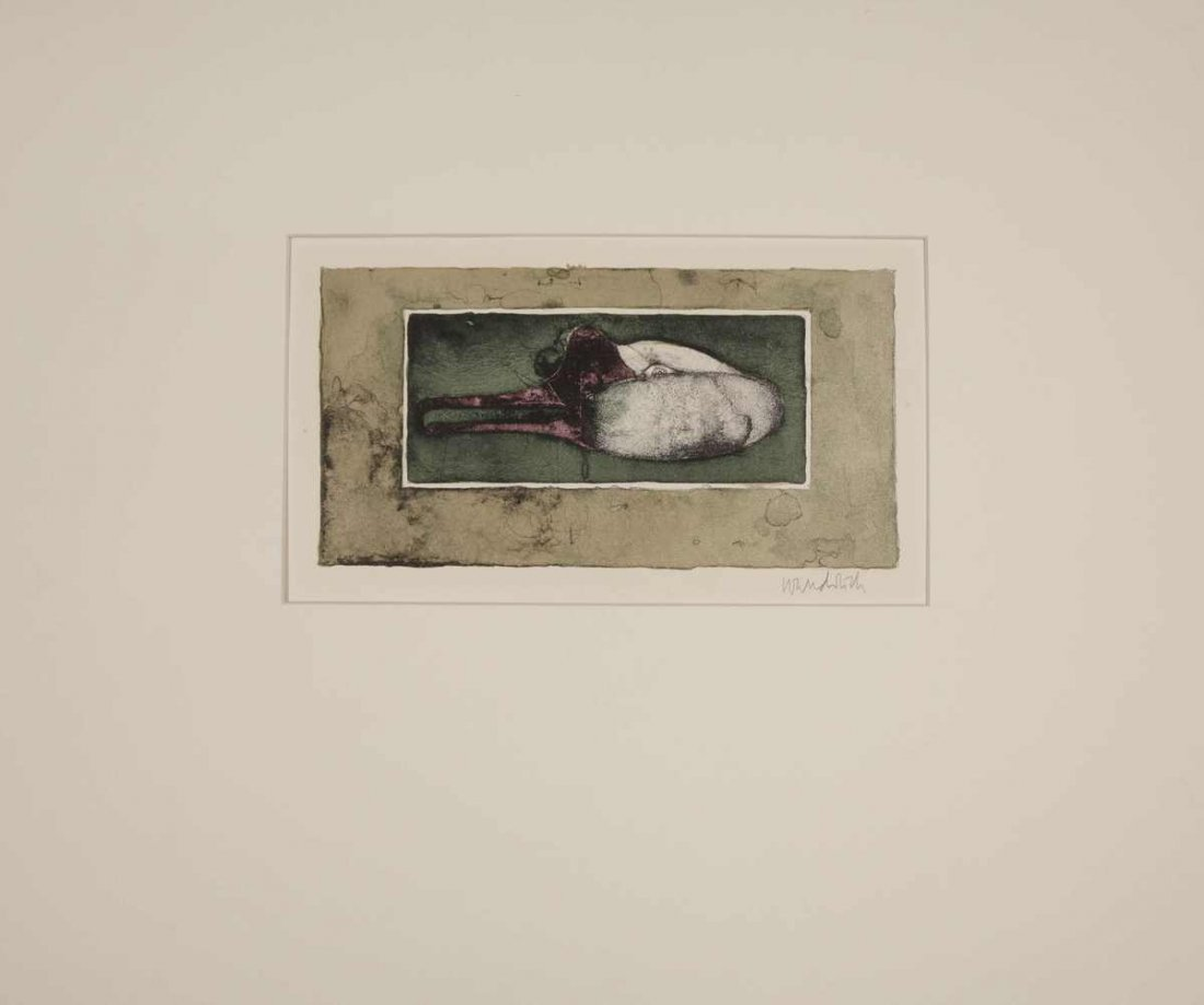 """15: Wunderlich, """"swan's head"""", color lithograph, 1964,"""