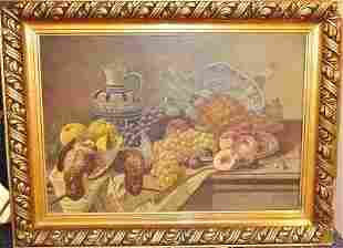 """SEIDEL, """"Still Life with Pheasants and exotic fruit"""