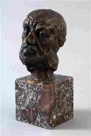 """RODIN, Auguste (1840 - 1917) """"The Man with the Broke"""