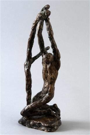 "Albiker, Dr. Karl, (1878-1961) sculpture ""Saint Seba"