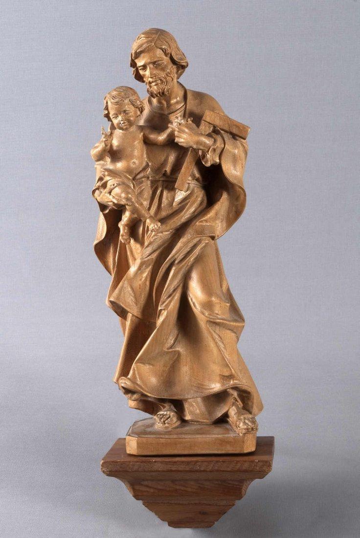 10: Saint Joseph stuck with Infant Jesus Lindenholzschn