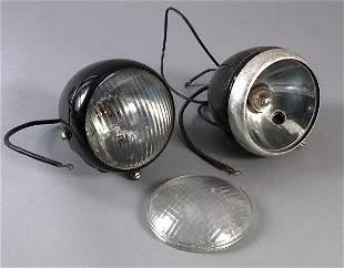 Paar Scheinwerfer für Oldtimer, Marke HASAG, Modell