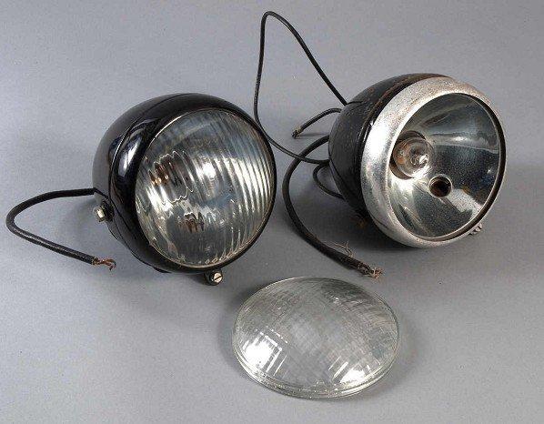 3: Paar Scheinwerfer für Oldtimer, Marke HASAG, Modell