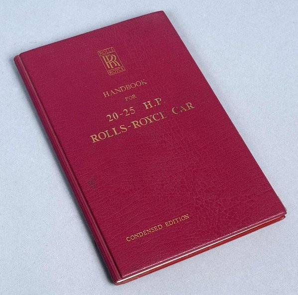 8: Handbook for 20-25 H.P. Rolls-Royce Car, Rolls-Royce