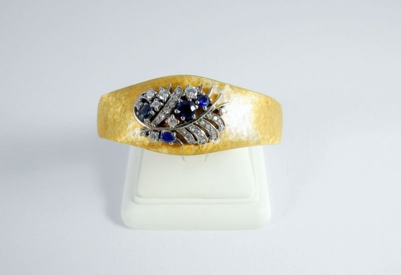 10: Exceptionally beautiful gold bracelet, 18 kt gold,