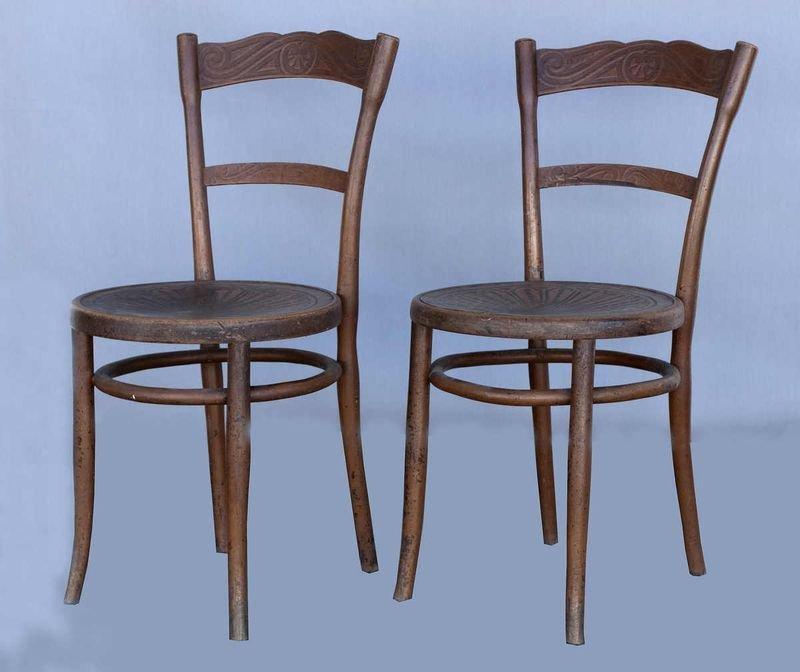 1657: Jacob & Josef Kohn, 2 bentwood chairs, early prod