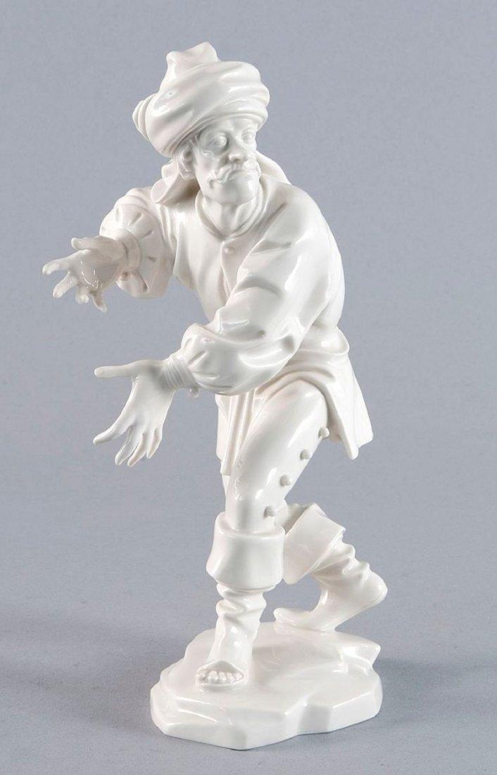 22: Morisque dancer, Allach, white porcelain, the botto