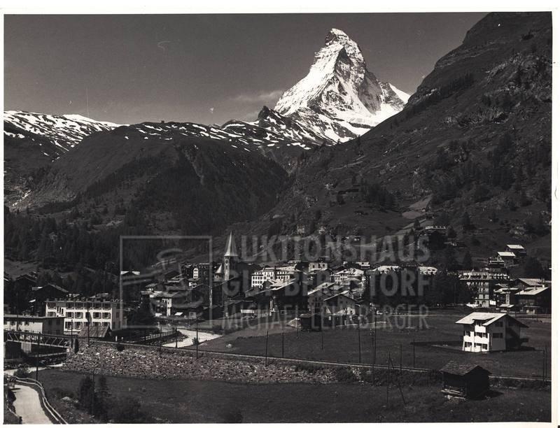 "14: ""Zermatt"", 151 Aufnahmen Originalarchiv Hans Truöl,"