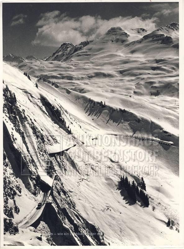 """18: """"Arlbergpassstrasse"""", 1 Aufnahmen mit Beschreibung"""