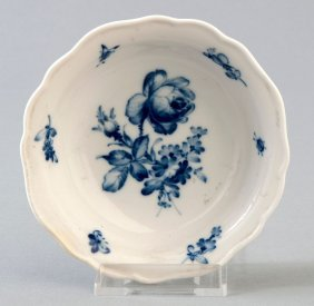 3: Dessertschälchen, Meissen, blaue Blume, kobaltblaue