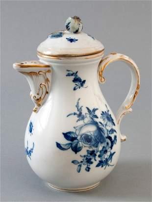 Mokkakännchen, Meissen, Schwertmarke um 1860, blaue