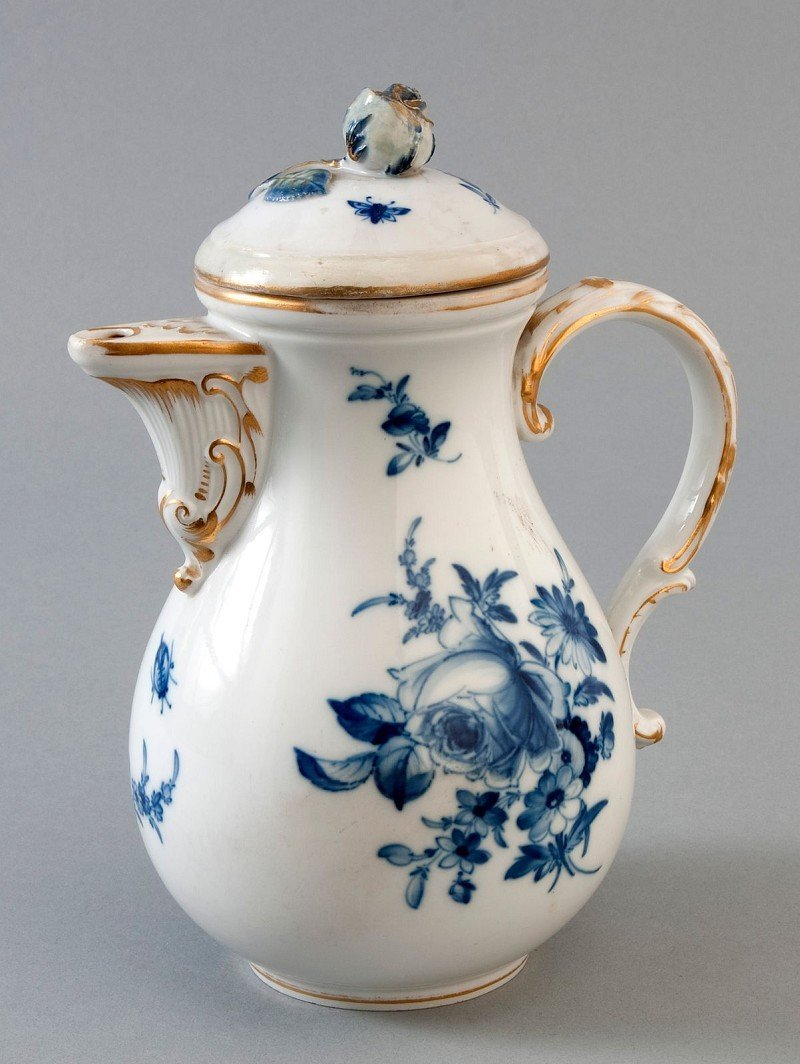 5: Mokkakännchen, Meissen, Schwertmarke um 1860,  blaue