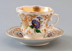 7: Biedermeiertasse, Krister Porzellanmanufaktur, Flora