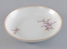 9: Teller, Höchst, klein, florales Dekor in Schiebebild