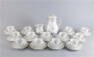 Kaffeeservice für 12+1 Personen, Meissen, Streublüm