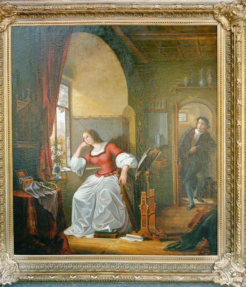 269: Liebespaar um 1880/90, Öl auf Leinwand, unsigniert - 2