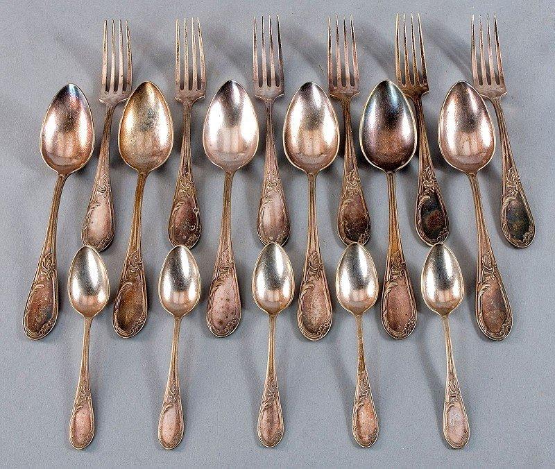 Russian silver cutlery rest, hallmarked 84 zolotniki, c