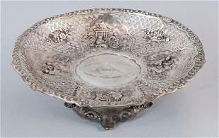 Aufsatzschale, 800'-silver, half moon and crown mark, G