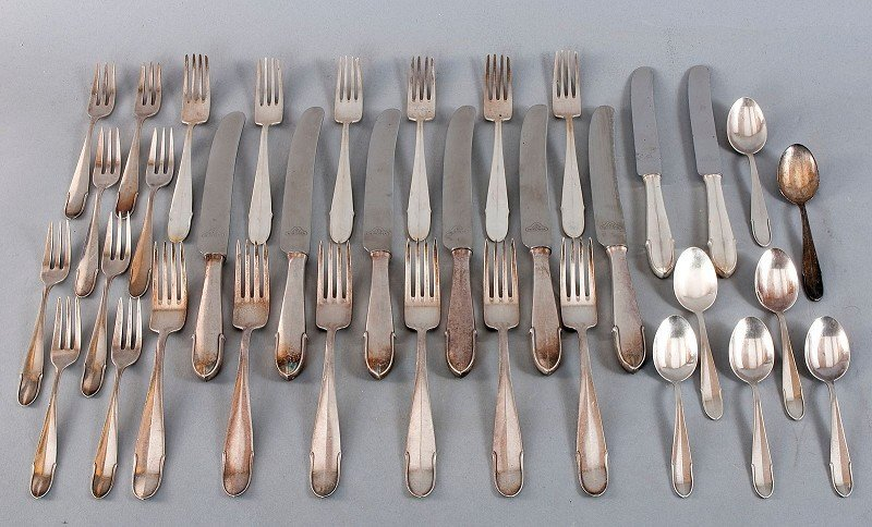 WMF, 800'-silver cutlery for 6 persons in classic form,